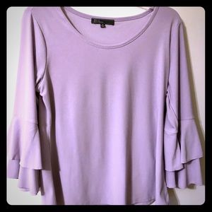 Lavender bell sleeve Medium top
